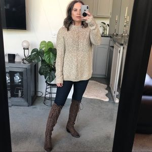 Lucky Brand Marled Knit Sweater